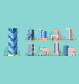 skyscrapers high-rise buildings colorful vector image vector image