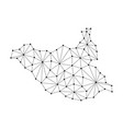 south sudan map of polygonal mosaic lines network vector image vector image