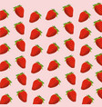 strawberry fruit seamless pattern vector image vector image