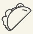 taco line icon burrito vector image