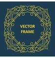 Vintage frame for your text vector image vector image