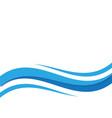 water wave icon vector image vector image