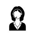call center female avatar icon vector image