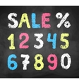Chalked collection of numbers vector image