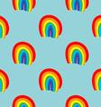 Rainbow seamless pattern hand drawn vector image