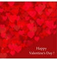 Abstract background of hearts Valentines day card vector image vector image