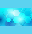 abstract blue technology digital background vector image vector image
