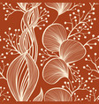 abstract botanical seamless pattern in light vector image vector image