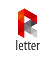 Abstract logo letter R modules vector image vector image