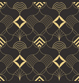 abstract wave geometric seamless pattern vector image
