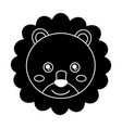 baby cute animal lion head vector image