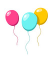 balloons colorful ballon set isolated on white vector image vector image