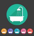 bath shower icon flat web sign symbol logo label vector image vector image