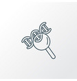 biology icon line symbol premium quality isolated vector image vector image