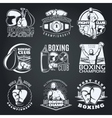 Boxing Clubs And Competitions Monochrome Emblems vector image vector image
