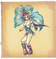 Carnival - An hand drawn sketch freehand colored vector image vector image