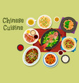 chinese cuisine dinner icon for asian food design vector image vector image