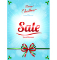 christmas and happy new year sale poster vector image vector image