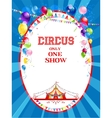 Circus bright poster vector image vector image