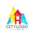 city logo original design modern building vector image vector image