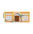 coffee street shop facade exterior isolated icon vector image