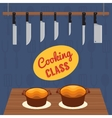 Culinary cooking class vector image