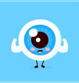 cute healthy strong smiling happy eyeball vector image vector image