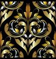 damask ornate seamless pattern beautiful vintage vector image