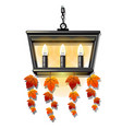 decorative hanging wall lamp or a sconce with vector image vector image