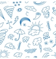 Doodle patern weather vector image vector image