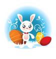 Easter Bunny Cartoon vector image vector image