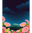 Evening Floral Fleid vector image