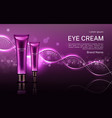 eye cream cosmetics tubes mock up banner with dna vector image