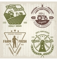 Farm Retro Style Logos vector image vector image