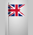 flag of united kingdom national flag on flagpole vector image vector image