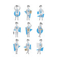 flat set of businessman in different vector image vector image