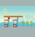 gas petroleum petrol refill station cars with vector image