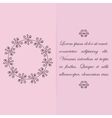 Greeting card invitation design with floral vector image