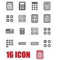 grey calculator icon set vector image vector image