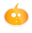 Halloween sticker with pumpkin isolated on white vector image vector image