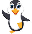 happy penguin cartoon vector image