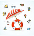 hello summer concept vacation on beach vector image vector image