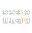 ice tea hold smartphone and water glass icons set vector image vector image