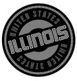 illinois typographic stamp vector image