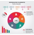 Infographics elements Pie chart and timeline vector image vector image