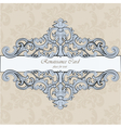 Invitation card with royal ornaments vector image vector image