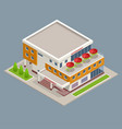 isometric large supermarket shopping 3d commercial vector image vector image