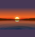 landscape river at mountain in sunset vector image vector image