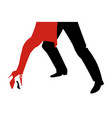 legs of woman and man dancing tango on white vector image vector image