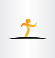 letter t man walking icon vector image vector image